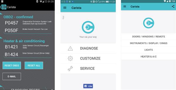 Carista OBD2 aplikacija za android