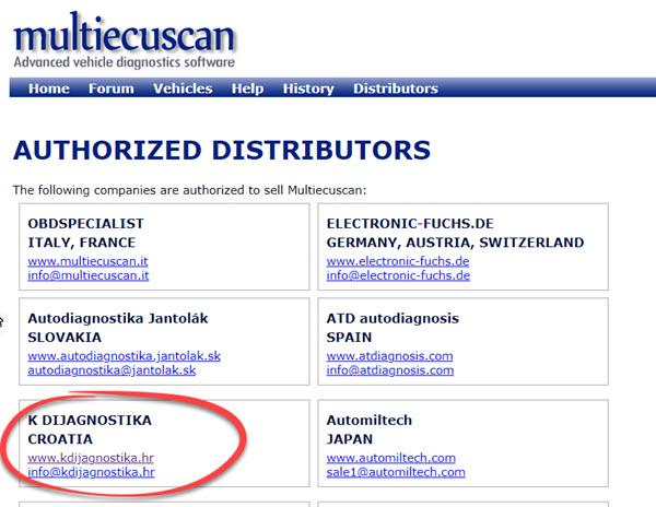 Multiecuscan distributeri