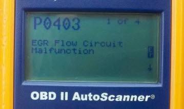 OBDII greška EGR ventila