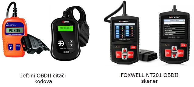 Usporedba naprednog Foxwell NT201 OBDII skenera sa jeftinim OBDII čitačem grešaka