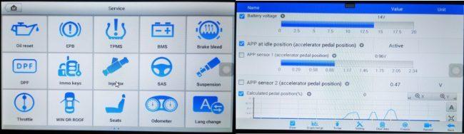 Funkcije Autel MP808 dijagnostike