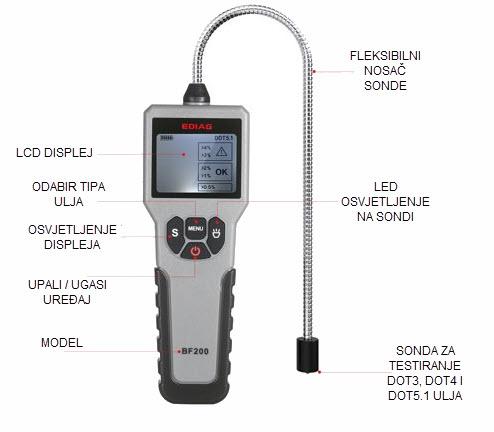 ediag bf200 tester kočione tekućine - opis uređaja