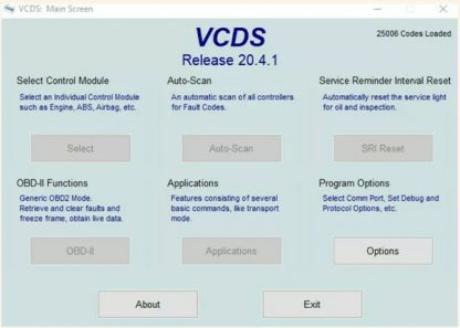 VCDS screenshot