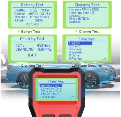 Ancel BST100 uređaj za testiranje akumulatora