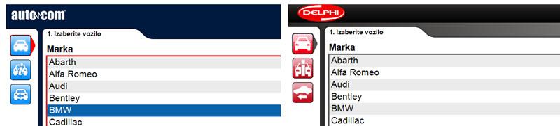 AUTOCOM i DELPHI - razlike