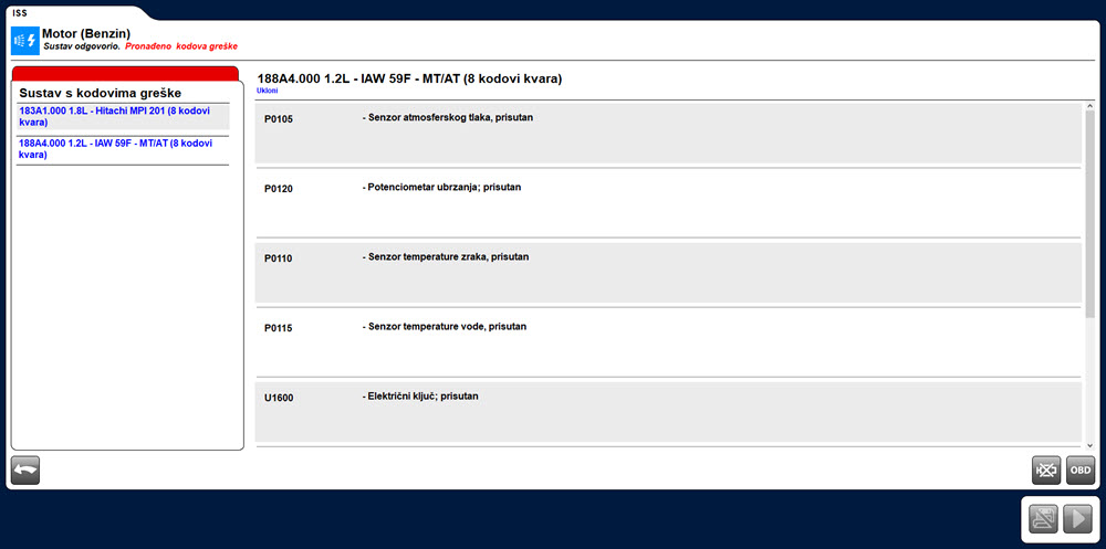 Delphi Autocom autodijagnostika ISS greške