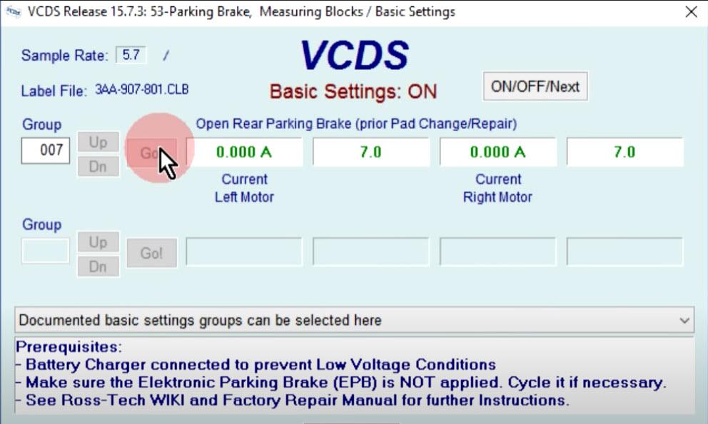 VCDS - servis EPB bez UDS-a