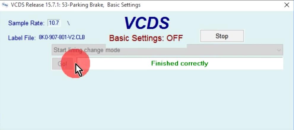 VCDS servis EPB sa UDS-om