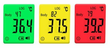 prikaz izmjerene temperature