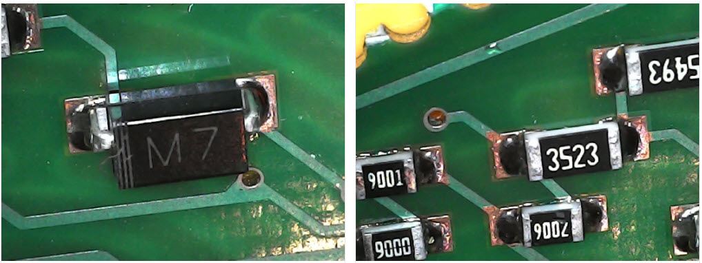 USB mikroskop povećanje PCB-a