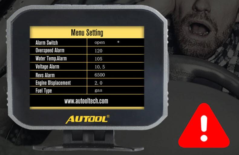AUTOOL X80 - alarmi