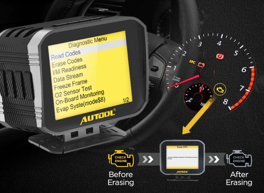 Autel x80 head up zaslon dijagnostika OBDII podaci o vožnji