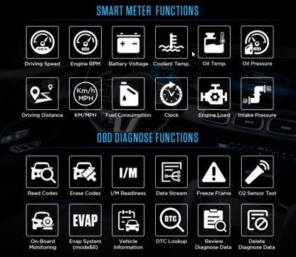 AUTOOL X80 head up zaslon mogućnosti