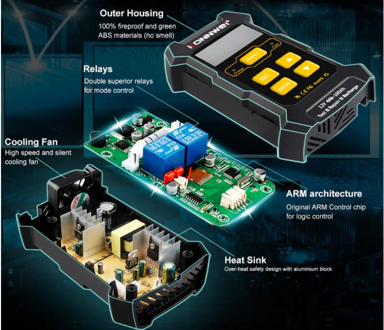 Punjač-tester-regenerator akumulatora sa ARM chipom